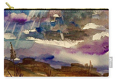 Storm Clouds Over The Desert Carry-all Pouch by Ellen Levinson