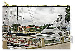 Storm Clouds Over The Harbor Carry-all Pouch