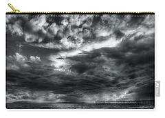 Carry-all Pouch featuring the photograph Storm Clouds Ventura Ca Pier by John A Rodriguez