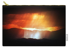 Storm Glow Night Over Santa Fe Mountains Carry-all Pouch by Joseph Frank Baraba