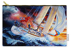 Carry-all Pouch featuring the painting Storm Meister by Hanne Lore Koehler