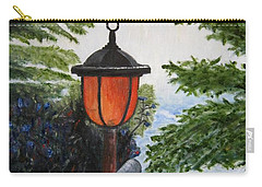 Carry-all Pouch featuring the painting Storm On Lake Of The Woods by Marilyn  McNish
