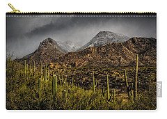 Storm Over Catalinas 15 Carry-all Pouch by Mark Myhaver