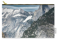 Carry-all Pouch featuring the photograph Storm Over Half Dome by Sandra Bronstein