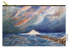 Storm Over The Ocean Carry-all Pouch