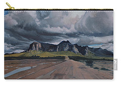 Storm Over The Superstitions Carry-all Pouch by Barbara Barber