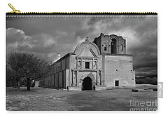 Carry-all Pouch featuring the photograph Storm Over Tumacacori II by Sandra Bronstein