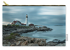 Storm Passing At Portland Head Light Carry-all Pouch