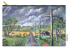 Carry-all Pouch featuring the painting  Storm by Randol Burns