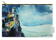 Carry-all Pouch featuring the painting Storm The Castle by Tom Riggs
