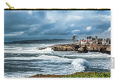 Storm Wave At Sunset Cliffs Carry-all Pouch