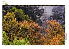 Stormy American Fork Canyon - Wasatch - Utah Carry-all Pouch by Gary Whitton