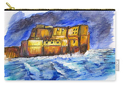 Stormy Castle Dell'ovo, Napoli Carry-all Pouch by Clyde J Kell