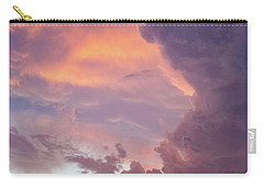 Carry-all Pouch featuring the photograph Stormy Clouds Over Texas by Ken Stanback