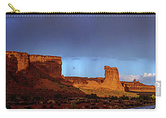Carry-all Pouch featuring the photograph Stormy Desert by Chad Dutson
