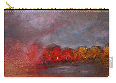 Stormy Fall Landscape Red Yellow Leaves Carry-all Pouch