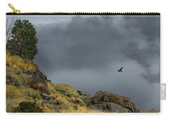 Carry-all Pouch featuring the photograph Stormy Flight by Frank Wilson