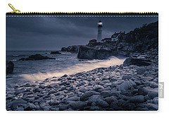 Carry-all Pouch featuring the photograph Stormy Lighthouse 2 by Doug Camara