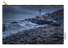 Carry-all Pouch featuring the photograph Stormy Lighthouse by Doug Camara