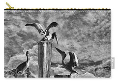 Stormy Pelicans Carry-all Pouch