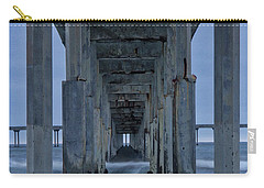 Stormy Pier In Ocean Beach Carry-all Pouch