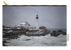 Stormy Portland Head Light Carry-all Pouch