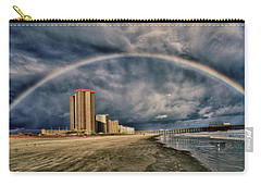 Stormy Rainbow Carry-all Pouch by Kelly Reber