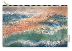 Carry-all Pouch featuring the painting Stormy Seas by Kim Nelson