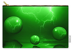 Stormy Skies - Green Carry-all Pouch