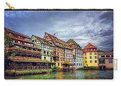 Stormy Skies In Strasbourg Carry-all Pouch by Carol Japp