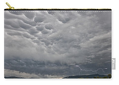 Carry-all Pouch featuring the photograph Stormy Skies In Wyoming by Sandra Bronstein