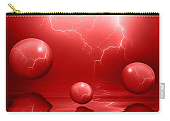 Stormy Skies - Red Carry-all Pouch