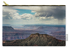Carry-all Pouch featuring the photograph Stormy Sky Past Bridgers Knoll by Gaelyn Olmsted