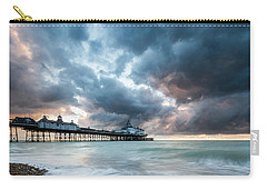 Stormy Sunrise Over Eastbourne Pier Carry-all Pouch