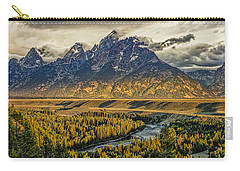 Stormy Sunrise Over The Grand Tetons And Snake River Carry-all Pouch