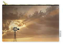 Stormy Sunset And Windmill 03 Carry-all Pouch by Rob Graham