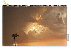 Stormy Sunset And Windmill 08 Carry-all Pouch by Rob Graham