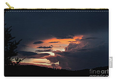 Carry-all Pouch featuring the photograph Stormy Sunset by Ann E Robson
