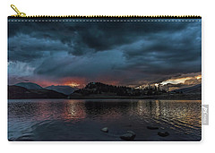 Stormy Sunset From Summit Cove Carry-all Pouch by Stephen Johnson