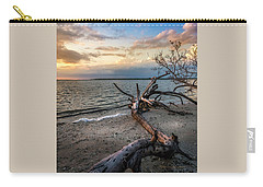 Carry-all Pouch featuring the photograph Stormy Sunset by Marvin Spates