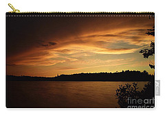 Stormy Sunset On Amoeber Lake Carry-all Pouch