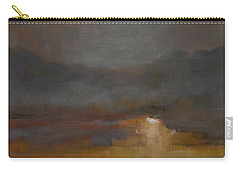 Stormy Waterscape Sunset Seascape Marsh Painting Carry-all Pouch