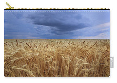 Carry-all Pouch featuring the photograph Stormy Wheat Field by Lynn Hopwood