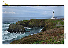 Stormy Yaquina Head Lighthouse Carry-all Pouch