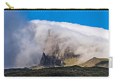 Carry-all Pouch featuring the photograph Storr In Cloud by Gary Eason