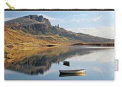 Carry-all Pouch featuring the photograph Storr Reflection by Grant Glendinning