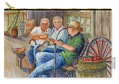 Carry-all Pouch featuring the painting Storyteller Friends by Marilyn Smith