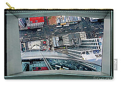 Carry-all Pouch featuring the photograph Straight Down Skyline 2 by Jennie Breeze