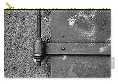 Carry-all Pouch featuring the photograph Straight Metal by Karol Livote