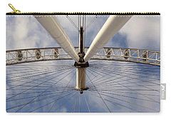 Carry-all Pouch featuring the photograph Straight Up London Eye by Heidi Hermes